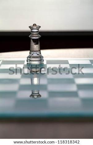 Queen chess piece - business concept series - strategy, business woman, power, ambition, success - gender issues in business? - stock photo