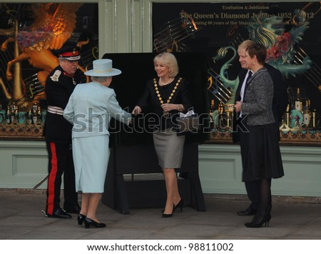 Queen Elizabeth II visits Fortnum and Mason, London, UK. March 1, 2012, London, UK Picture: Catchlight Media / Featureflash - stock photo