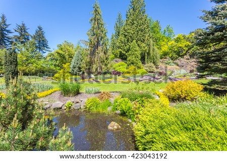 Queen Elizabeth park, Vancouver, Canada.  - stock photo