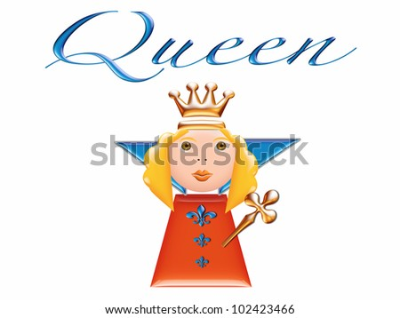 queen illustration 3d/ Queen