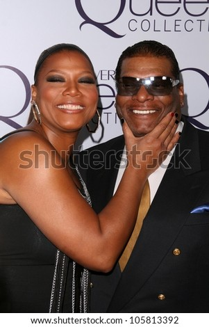 Queen Latifah and father Lance Owens at Queen Latifah's Birthday Party presented by Cover Girl Queen Collection. Club Light, Hollywood, CA. 03-28-09 - stock photo
