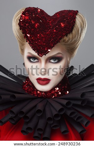 queen of hearts. valentines day