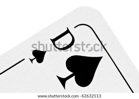 Queen of spades isolated on white background - stock photo