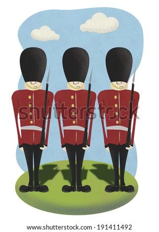 Queen's Guard   - stock photo