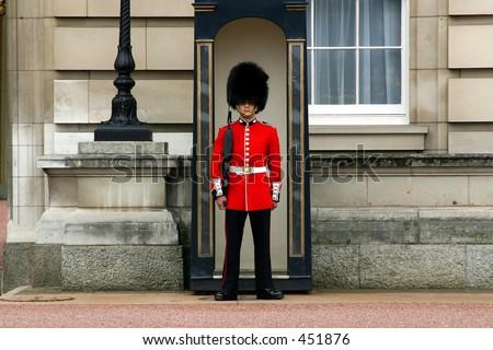 Queen's Guard - Buckingham Palace - stock photo