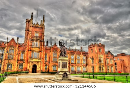 Queen�¢??s University War Memorial - Belfast, Northern Ireland - stock photo