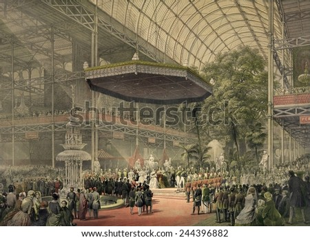 Queen Victoria presides at the state opening of the great exhibition of All Nations May 1st 1851.