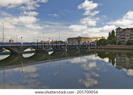 Queens Bridge, Belfast, Northern Ireland. - stock photo
