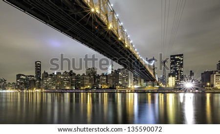 Queensborough Bridge from Roosevelt Island