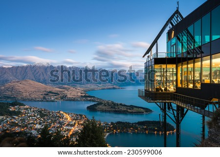Queenstown Dining - stock photo