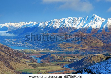 Queenstown is a tourist resort town in the South of New Zealand