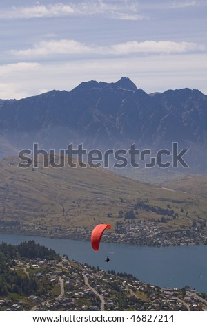 Queenstown on the south island of New Zealand - stock photo