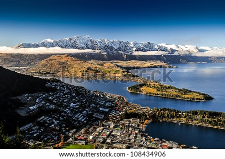 Queenstowns, New Zealand - stock photo