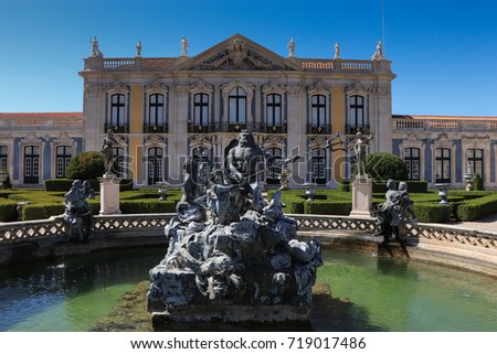 Queluz Royal Palace in Portugal September 2017