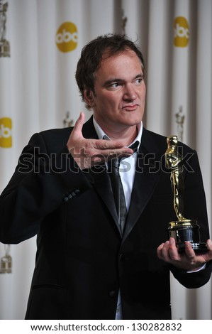 Quentin Tarantino at the 85th Academy Awards at the Dolby Theatre, Los Angeles. February 24, 2013  Los Angeles, CA Picture: Paul Smith