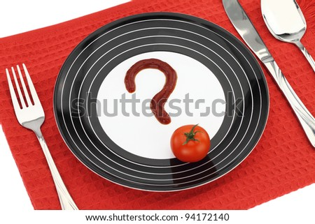 Question about food - stock photo