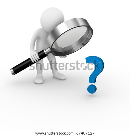 Question analysis - stock photo