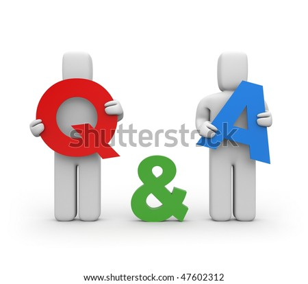 Question and answer - stock photo