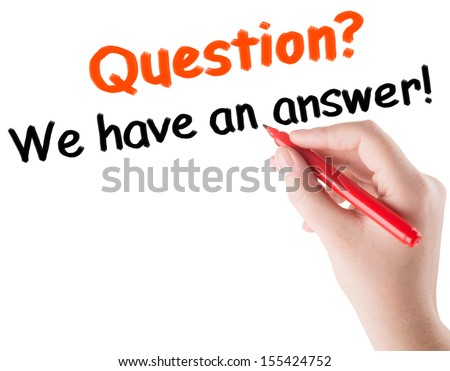 question and answer concept - stock photo