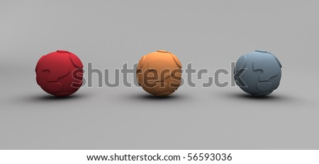 Question Balls - stock photo