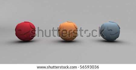 Question Balls - stock photo