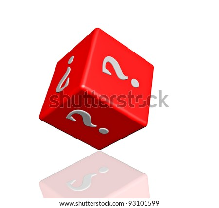 Question dice - stock photo