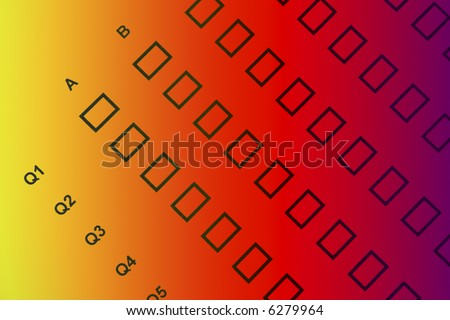 question form - stock photo