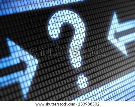 Question icon - stock photo
