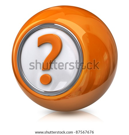 Question icon - stock photo