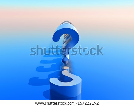 question mark ? - stock photo