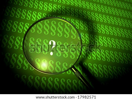 Question mark between paragraphs - stock photo