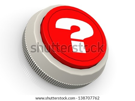 Question mark button - stock photo