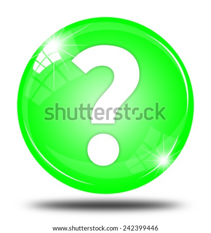 Question mark button isolated