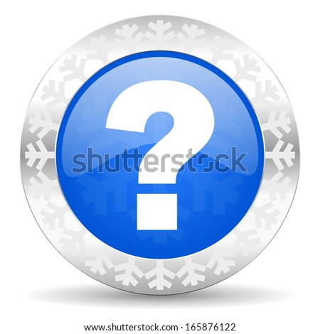 question mark christmas icon