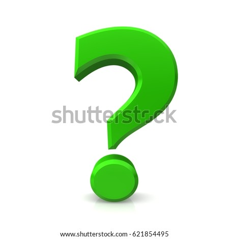 Question Mark 3 D Green Isolated Icon Stock Illustration 621854495