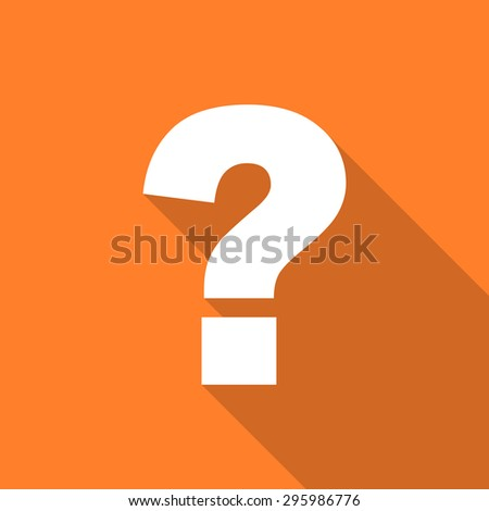 question mark flat design modern icon with long shadow for web and mobile app  - stock photo