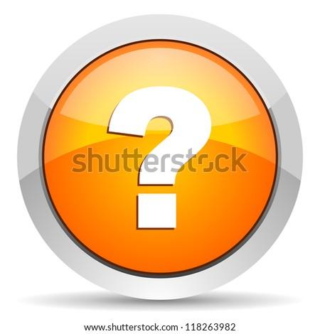 question mark icon - stock photo