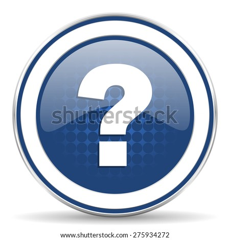 question mark icon ask sign  - stock photo