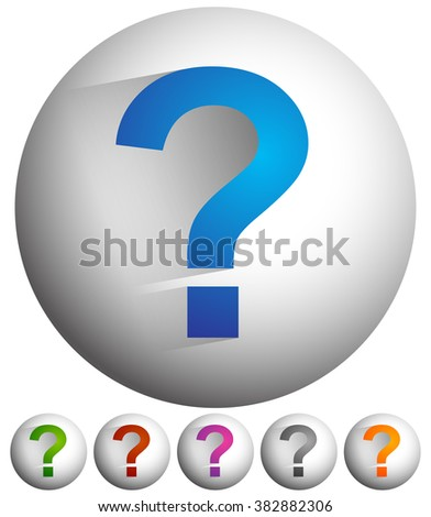Question mark icon for related themes. Support, problem, questions, riddle, quiz, puzzlement, uncertainty. - stock photo