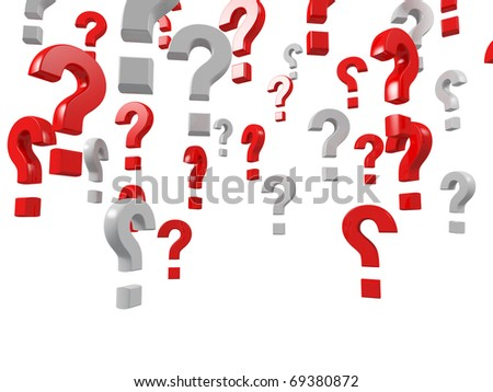 question mark isolated on white  background - stock photo