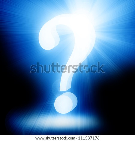 Question mark on a soft dark background - stock photo