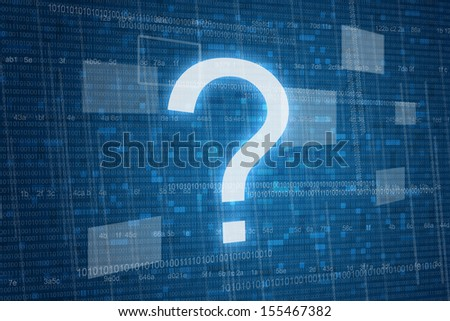 Question mark on digital background  - stock photo