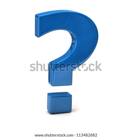 Question mark sign - stock photo