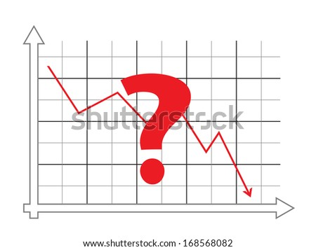 Question mark with graph  - stock photo