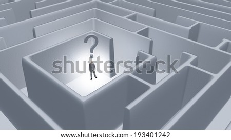 Question Maze - stock photo