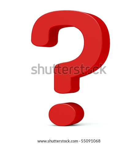 Question sign. 3d render - stock photo