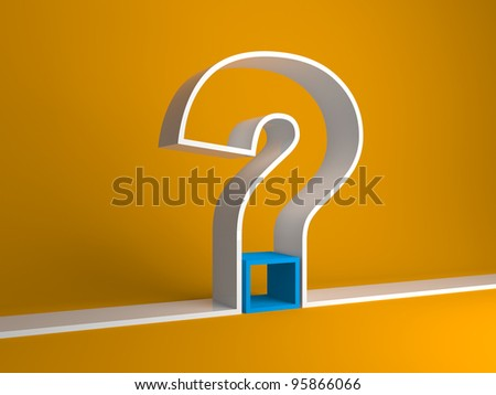 Question sign on a blue background