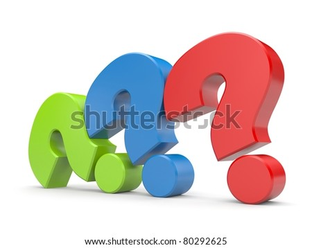 Question sign's - stock photo