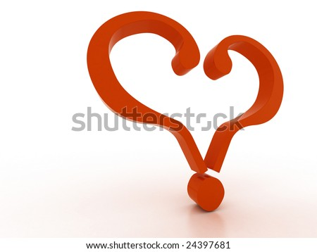 Two Red Questions Formed By Heart Stock Illustration 47769256 ...