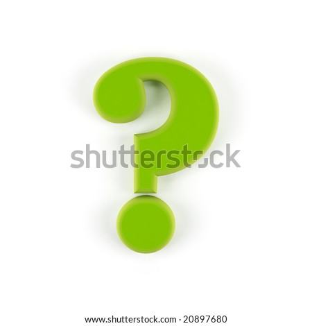 Question symbol isolated on a white background.